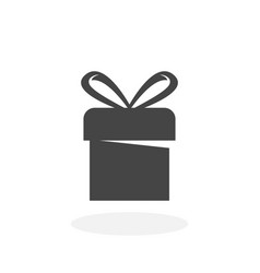 gift icon logo on white background vector image