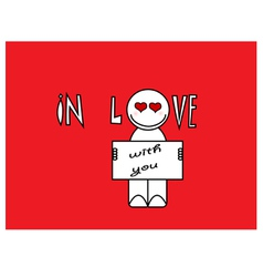 In love with you cartoon vector image vector image