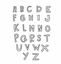 A to z alphabet comic style vector