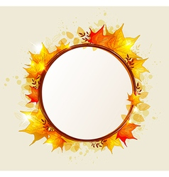 Abstract round autumn banner vector image