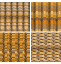 Abstract warm colored waves seamless pattern vector image vector image