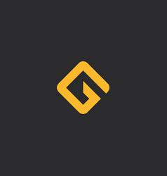 ag logo simple design vector image