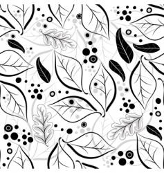 Autumn floral pattern vector