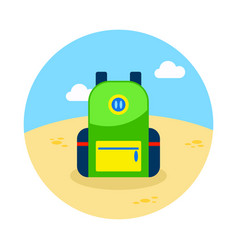Backpack icon travel summer vacation vector