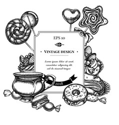 badge design with black and white macaron vector image