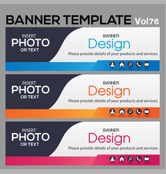 banner web template banner blackground and banner vector image