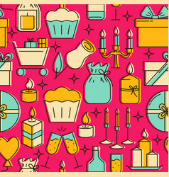 Bright holiday celebration seamless pattern in vector