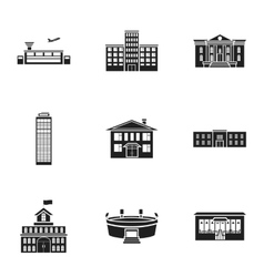 Building set icons in black style Big collection vector image