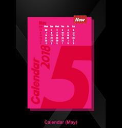 calendar ui may image vector image