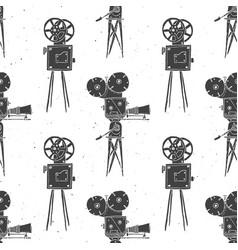 Camera vintage seamless pattern handdrawn sketch vector