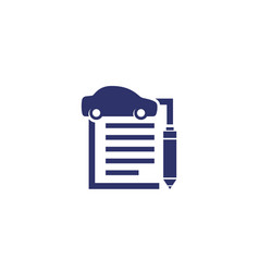 Car loan or insurance contract icon vector