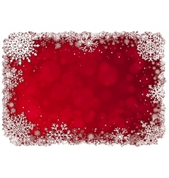 Christmas frame over red background vector image