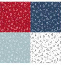 christmas tree seamless pattern flat design vector image