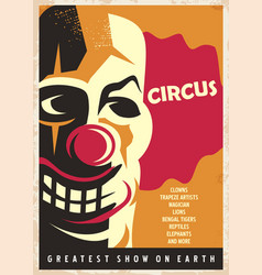 Circus poster design template vector