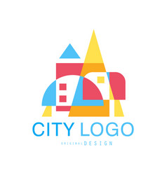 City logo modern design of real estate and city vector