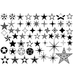 collection star vector image