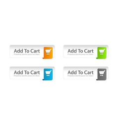 colorful add to cart buttons set vector image
