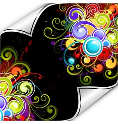 Colorful background flourish vector