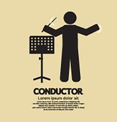 Conductor With Music Stand Symbol vector image