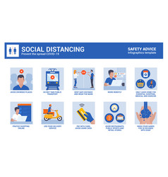 coronavirus safety advice - social distancing vector image