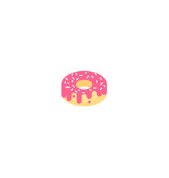 donut collection sweet sugar icing donuts vector image
