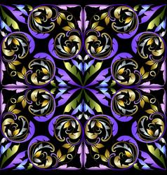 elegance damask seamless pattern vintage vector image