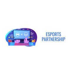 Esports collaboration concept banner header vector