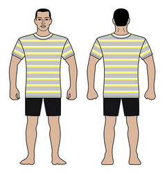 Fashion man figure and t shirt design with vector