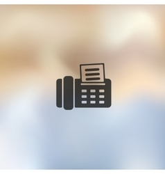 fax icon on blurred background vector image