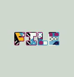 File concept word art vector