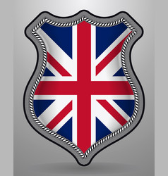 flag of united kingdom badge and icon vector image