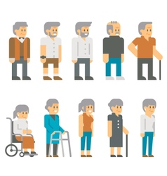 Flat design senior citizens vector