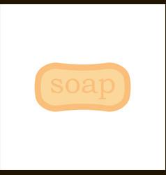 flat soap isolated on white background icon logo vector image