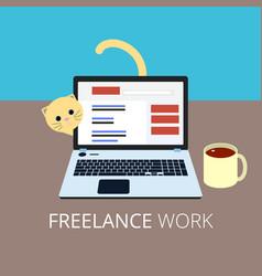 freelance flat style eps10 vector image