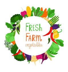 fresh farm vegetables banner design vector image