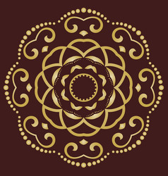 geometric golden pattern vector image