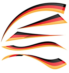 Germany flag set vector