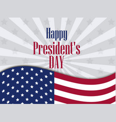 Happy presidents day festive banner with american vector