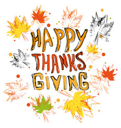 happy thanksgiving logo vector image