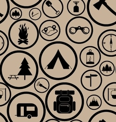 Hiking seamless pattern vector image