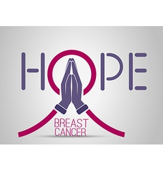 Icon breast cancer vector image vector image