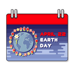 International earth day vector