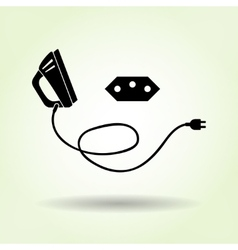 Iron two-pin plug Brazilian socket base icon vector