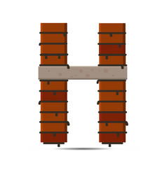 Letter brick logo vector