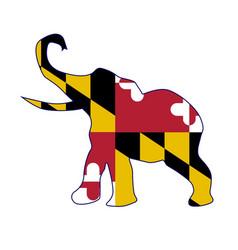 Maryland republican elephant flag vector