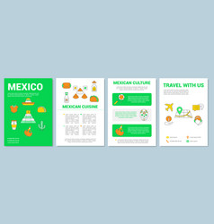Mexico brochure template layout mexican travel vector
