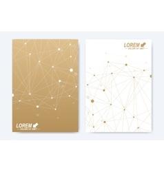 Modern template for brochure Leaflet flyer vector image