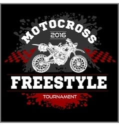 Motocross Tournament emblem vector