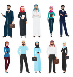muslim arabic business people arab office male vector image