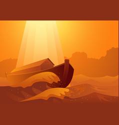 noahs ark and great flood vector image